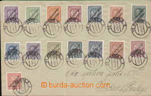 83066 - 1918 dopis vyfr. rak. známkami 3h-1K( 15ks ) s přetiskem L