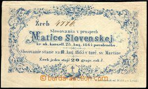 83275 - 1865 RAKOUSKO-UHERSKO  los Matice slovenské se slosováním 10