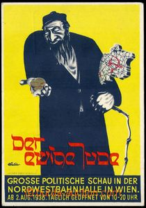 83386 - 1938 VÝSTAVA Der ewige Jude, WIEN, barevná propagační po