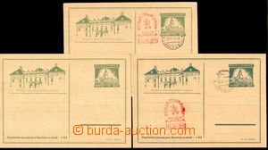83430 - 1945 SLAVKOV  sestava 3ks dopisnic, 1x čistá, 2x s razítkem