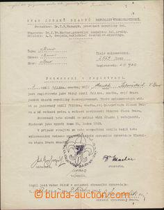 83501 - 1922-37 SKAUTING, 3ks dokladů vystavených svazem Junáků
