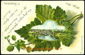 83610 -  DOKSY (Hirschberg) - barevná lito koláž, chmel, celkový