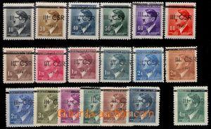 83679 - 1945 NOVÉ MĚSTO NA MORAVĚ  Geo.L300/1, kompletní série 18ks,