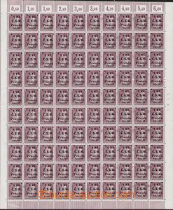 83680 - 1945 CHEB  Geo.L160/2+3, německá známka 6Pf,  kompletní