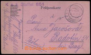 84060 - 1918 dopisnice PP zaslaná do Radotína, DR EPA SPILIMBERGO/