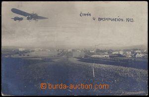84109 - 1913 BOSKOVICE - pilot Čihák v letadle, přílet do Boskov