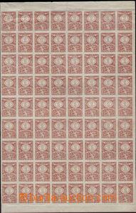 84326 - 1919 ČSR I.  zkusmý tisk kolkové známky 1K, červená ba