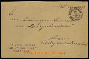 84341 - 1895 dopis osvobozený od poštovného, DR BRNO NÁDRAŽÍ/