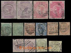 84426 - 1862-84 sestava 14ks klasických známek Královna Viktorie,