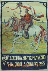 84728 - 1925 FROLKA J.  plakát, Sokolský slet v Uherském Brodě, tisk