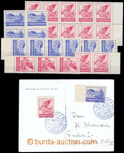 84815 - 1945 Skalické vydání revolučních zn. v červené (1,50+