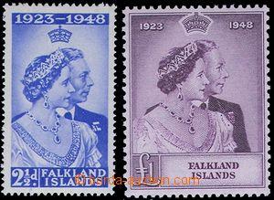 84818 - 1948 Mi.96-97, Stříbrná svatba, pěkné, hledaná 1 £