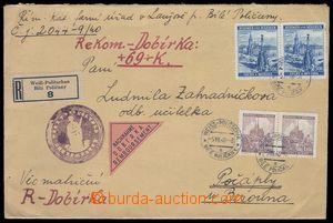 84935 - 1940 R-dopis, dobírka zaslaná 5.12.40 z Poličan do Počá