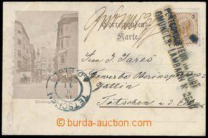 85024 - 1899 pohlednice zaslaná z Gmunden do Děčína, razítko VL