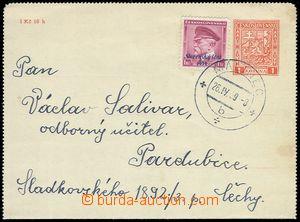 85029 - 1939 československá zálepka CZL2C, dofr. zn. Alb.12, DR Máli