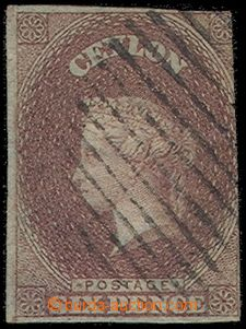 85128 - 1859 Mi.6xyb, tmavě hnědá, namodralý papír, němé raz., vprav