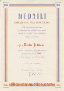 85330 - 1947-8 ČSR II.  sestava 3ks dekretů na jedno jméno k udě