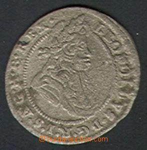 85388 - 1697 Leopold I. 1 krejcar, Břeh 1697CB, Ag, 1/1