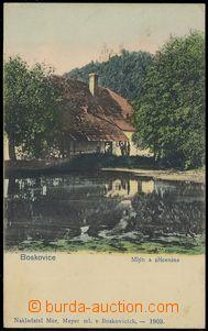 85456 - 1903 BOSKOVICE - mlýn, v pozadí hrad; DA, nepoužitá, od�