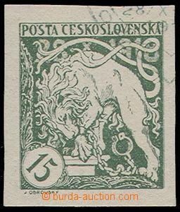 85636 -  Pof.27(q), ¼ přítisku, 15h světle zelená, zk. Gi,