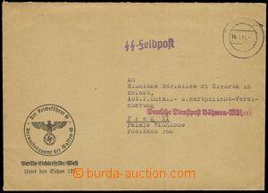 85653 - 1941 dopis do Prahy, pojišťovna Riunione, řádkové razí