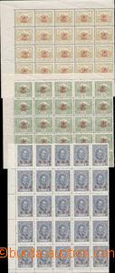85694 -  Pof.170-172, kompletní řada, rohové 25-bloky (!), u hodn