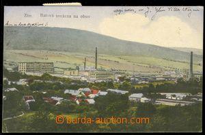 85719 - 1920 ZLÍN - celkový pohled, továrna Baťa; prošlá, čá