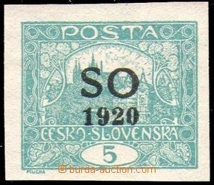 85799 -  Pof.SO3  Hradčany 5h, modrozelená, vady na známce (pošk