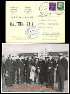 85951 - 1937 propagační pohlednice, 1. let Venezia–Praha, DR VEN