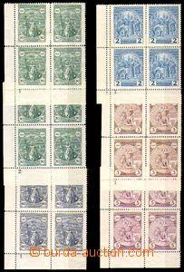 86103 - 1929 Pof.243-247, Svatý Václav, dolní rohové 4-bloky s D