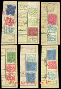 86135 - 1919 sestava 11ks ústřižků poštovních průvodek + 1x v
