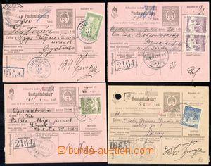 86174 - 1918-19 sestava 10ks uherských peněžních průvodek malé