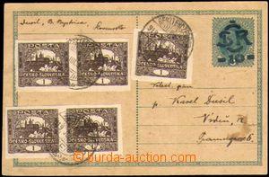 86237 - 1919 CDV1a, Velký monogram - Karel, zaslaná do Rakouska ze S