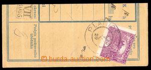 86273 - 1920 ústřižek poštovní průvodky vyfr. zn. Hradčany 30h tmavě