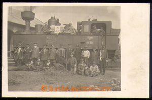 86289 - 1919 lokomotiva 178.139, Prievidza, společné foto, nepouž