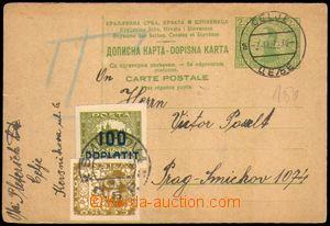 86337 - 1922 dvojitá dopisnice Mi.P54, adresovaná do ČSR, zatíž