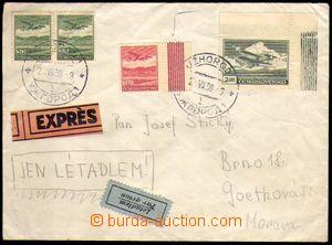 86354 - 1938 Ex+Let-dopis do Brna, vyfr. zn. Pof.L7 2x, L8 a L9, DR