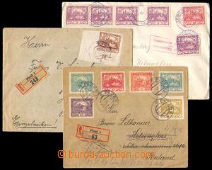 86395 - 1919 sestava 3ks dopisů adresovaných do Finska (!) v II.TO