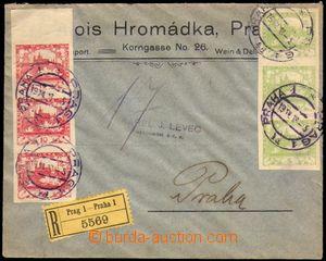 86411 - 1918 R dopis zaslaný 2. den vydání Hradčanských známek (!),