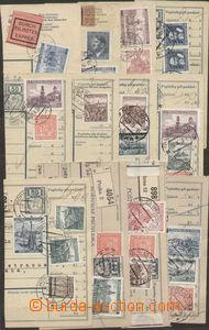 86426 - 1939 sestava 12ks ústřižků průvodek se zajímavými fra