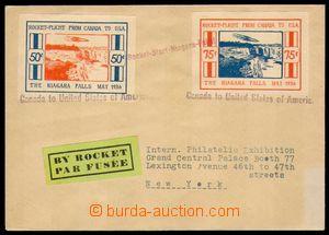 86524 - 1936 dopis přepravený raketovou poštou z Kanady do USA, vypl