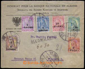 86538 - 1914 R-dopis do Vídně vyfr. kompletní sérií Mi.41-46, DR Vlo