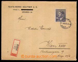 86583 - 1943 R-dopis do Vídně s jednoznámkovou frankaturou Pof.97