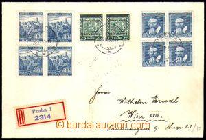 86584 - 1939 filatelisticky motivovaný R-dopis do Vídně, smíšen