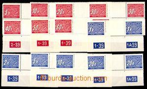 86853 - 1939 Pof.DL1-14M Doplatní, vodorovná 2-známková meziarš