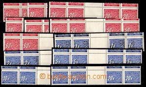 86854 - 1939 Pof.DL1-14M Doplatní, vodorovná 4-známková meziarš