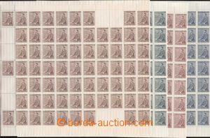 86857 - 1942 Pof.74-77, Hitler, sestava 4ks kompletních PA s okraji