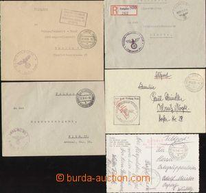 86890 - 1939-45 sestava 9ks celistvostí prošlých německou služe