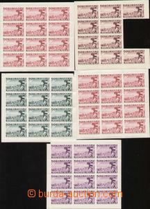 86911 - 1940? nevydané (?), sestava 5x 12-blok 9Д/D, různé
