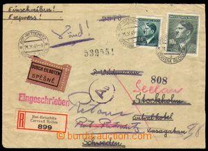 86968 - 1943 R+Ex-dopis zaslaný do Švédska z  tábora KLV-Lager/